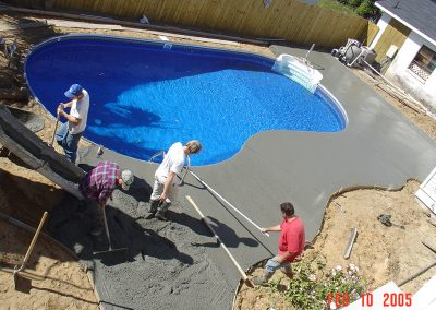 POOL IN PROGRESS